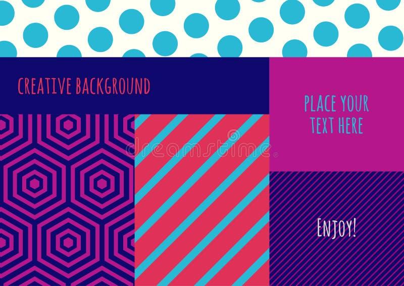 Abstrakcjonistyczny wektorowy kreatywnie koloru blokingu tło Multicolor g royalty ilustracja