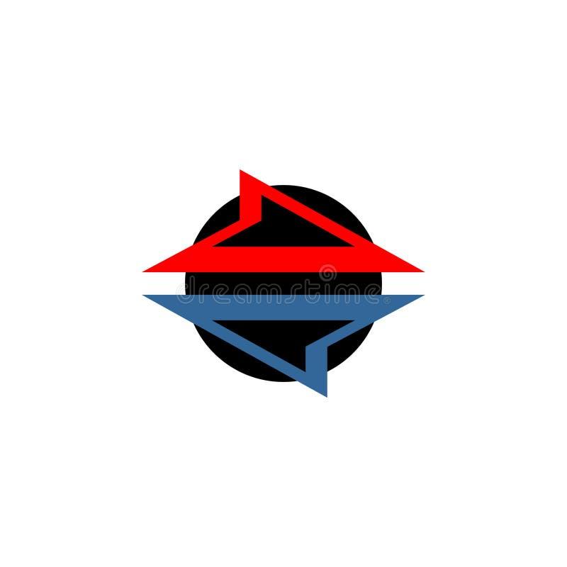 Abstrakcjonistyczny wektorowy loga projekt dla kierunków również zwrócić corel ilustracji wektora ilustracja wektor