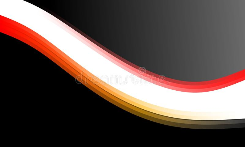 Abstrakcjonistyczny wektorowy metalu tło z fali i round ramą dla twój teksta ilustracji
