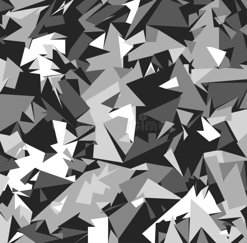 Abstrakcjonistyczny Wektorowy Militarny kamuflażu tło ilustracja wektor