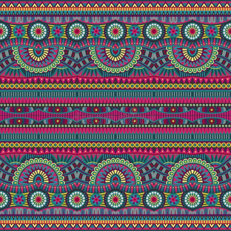 Abstrakcjonistyczny wektorowy plemienny etniczny bezszwowy wzór ilustracja wektor