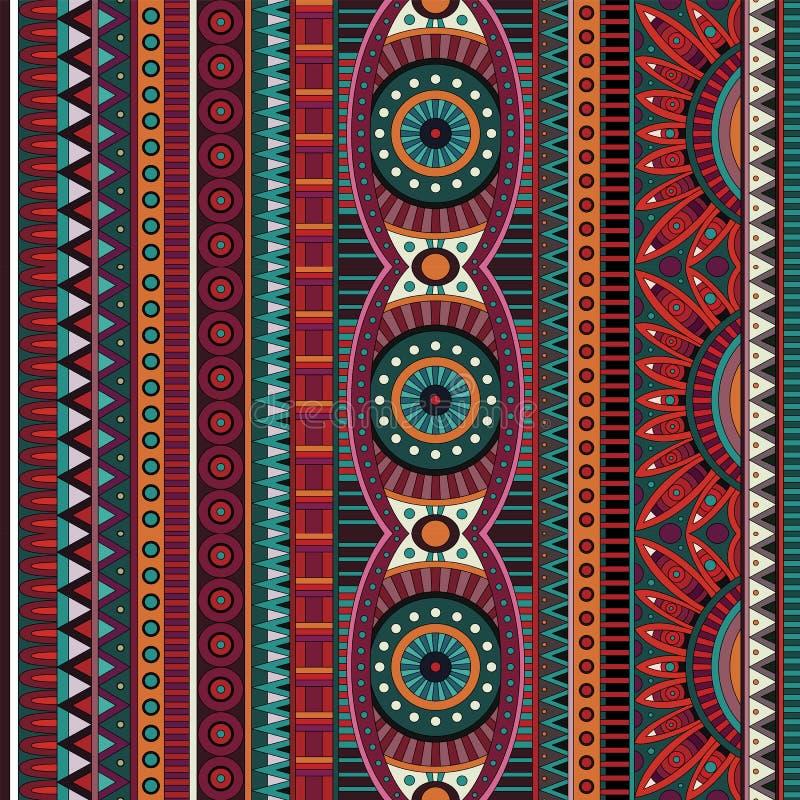 Abstrakcjonistyczny wektorowy plemienny etniczny bezszwowy wzór royalty ilustracja