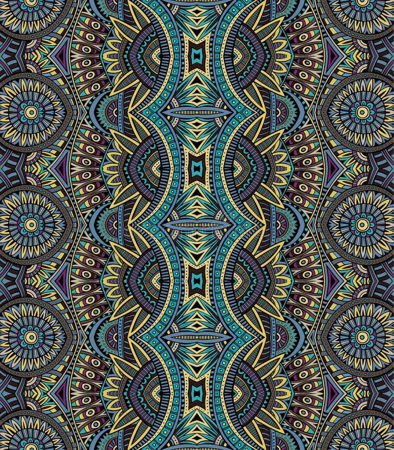 Abstrakcjonistyczny wektorowy plemienny etniczny bseamless wzór ilustracji