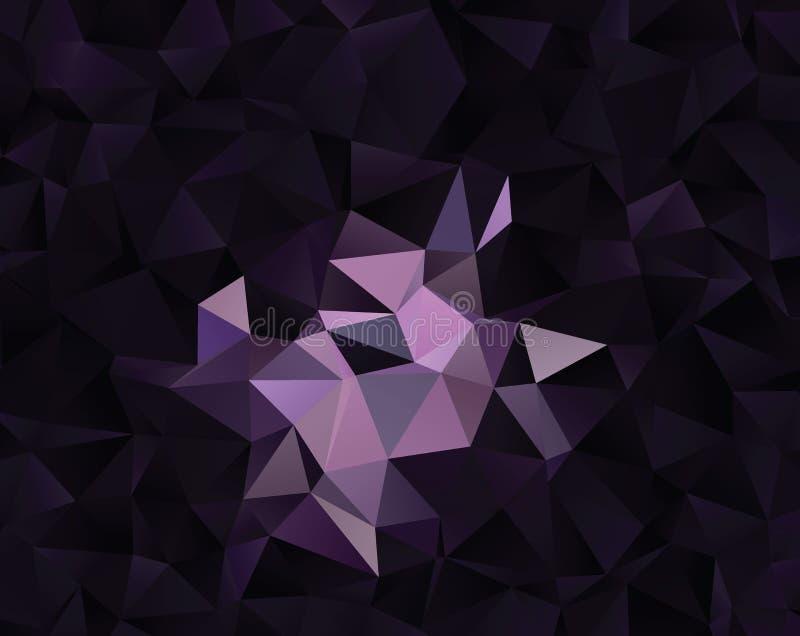 Abstrakcjonistyczny wektorowy poligonalny tło Niski poli- trójgraniasty wzór Najlepszy graficzny resourse dla twój projekta pracu obrazy stock