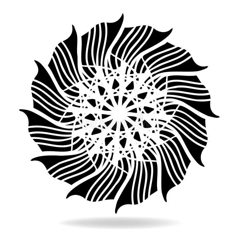 Abstrakcjonistyczny wektorowy projekta element, kwiatu kształta symetryczny wzór ilustracji