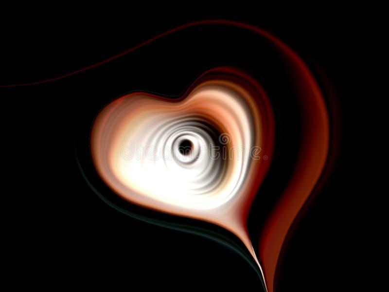 Abstrakcjonistyczny wektorowy serce z stubarwnym ocienionym falistym tłem z oświetleniowym skutkiem i teksturą, wektorowa ilustra royalty ilustracja