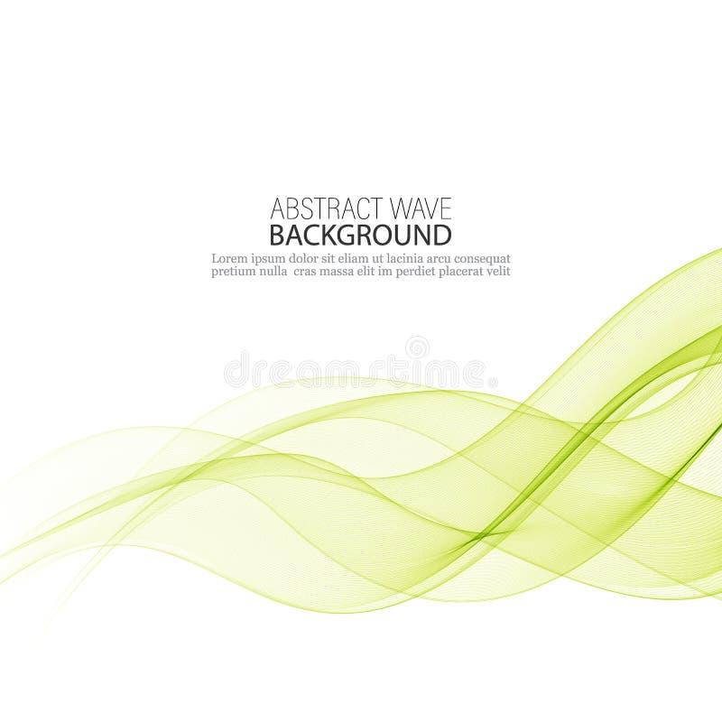 Abstrakcjonistyczny wektorowy tło, koloru przepływ machający wykłada dla broszurki, strona internetowa, ulotka projekt Przejrzyst ilustracji
