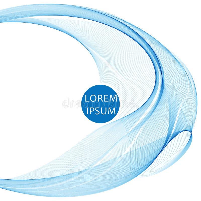 Abstrakcjonistyczny wektorowy tło, round błękitny przejrzysty pierścionek okręgu kształt ilustracja wektor
