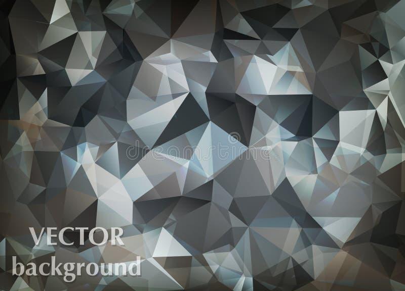 Abstrakcjonistyczny wektorowy tło trójboka wieloboka tapeta Sieć d royalty ilustracja