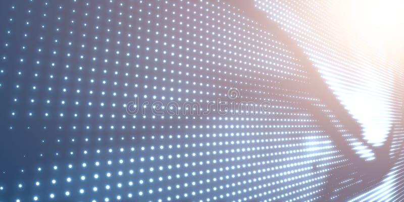 Abstrakcjonistyczny wektorowy tło z błyszczeć neonowych światła Neonowy znak z abstrakcjonistycznym wizerunkiem w perspektywie ro ilustracja wektor