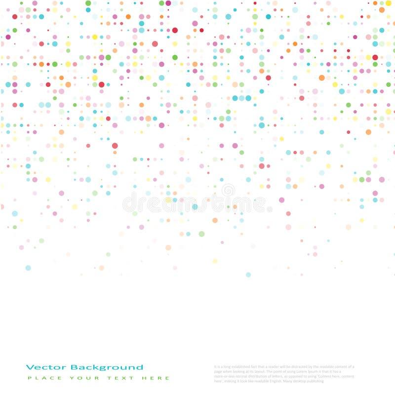 Abstrakcjonistyczny wektorowy tło z kolorów okręgami ilustracja wektor