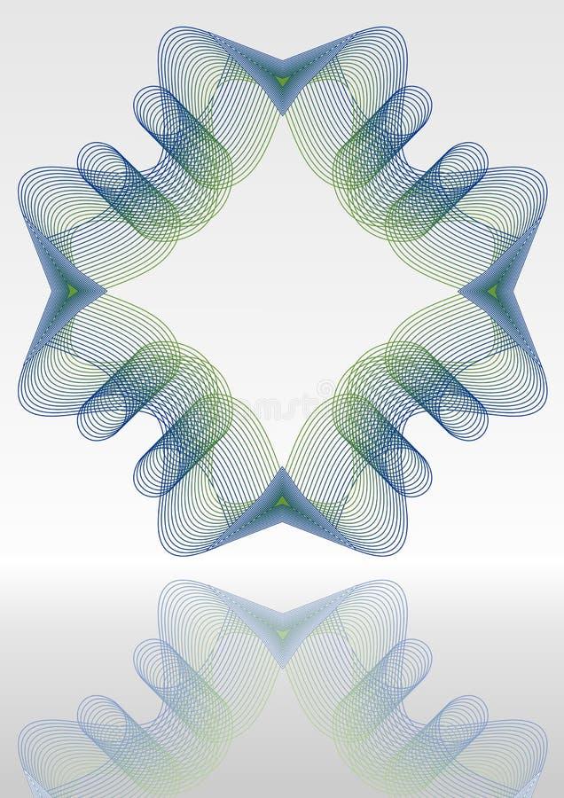 Abstrakcjonistyczny wektorowy tło z lustrzany zielony i błękitnym giloszuje wzory ilustracja wektor