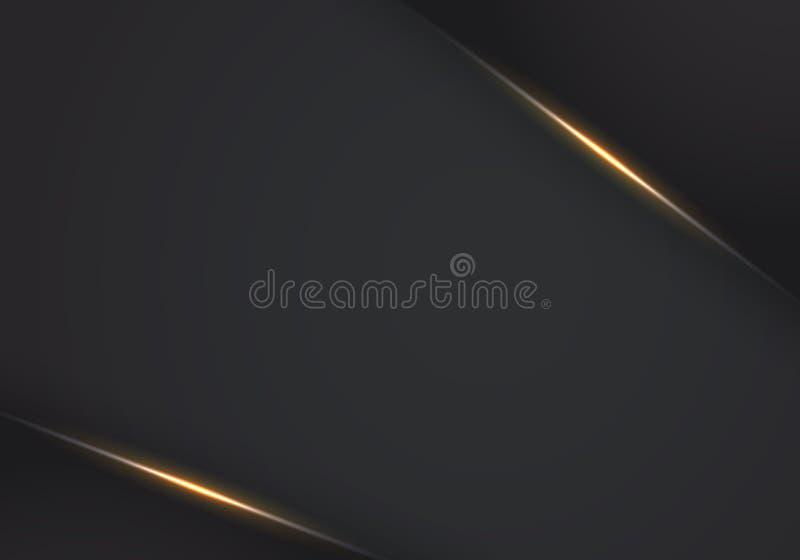 Abstrakcjonistyczny wektorowy tło z zmrokiem - szare metal warstwy abstrakcjonistycznego kruszcowego lekkiego czerni ramy układu  ilustracji