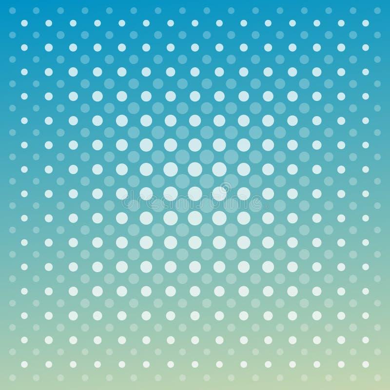 Abstrakcjonistyczny wektorowy techno kropkuje błękitnej zieleni tło royalty ilustracja