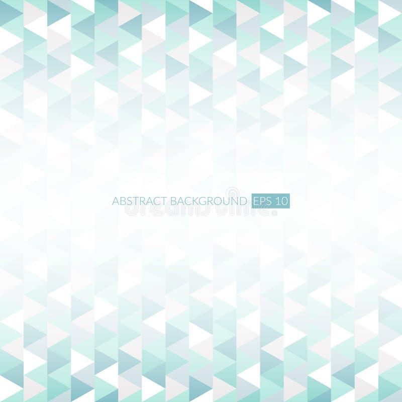 Abstrakcjonistyczny Wektorowy trójboka tło Poligonalny wzór Infographic geometrii ilustracja dla prezentaci i projekta royalty ilustracja