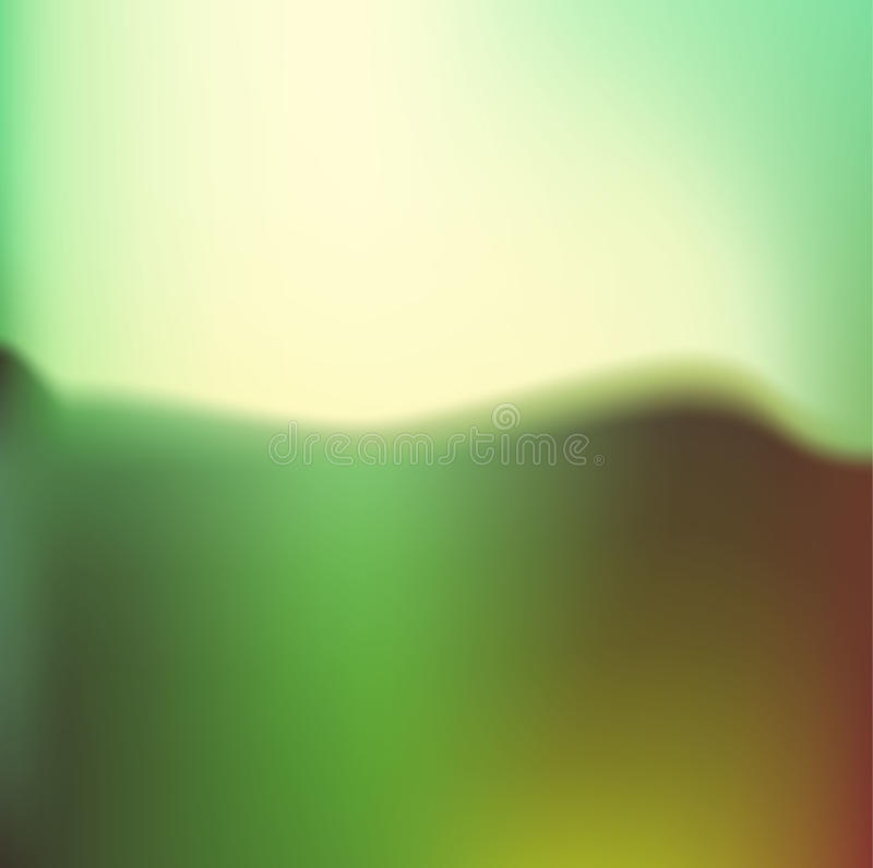 Abstrakcjonistyczny wektorowy wizerunek góra, lasu krajobraz Multilevel pasmo górskie w tle i zwarty wiecznozielony las w t ilustracja wektor