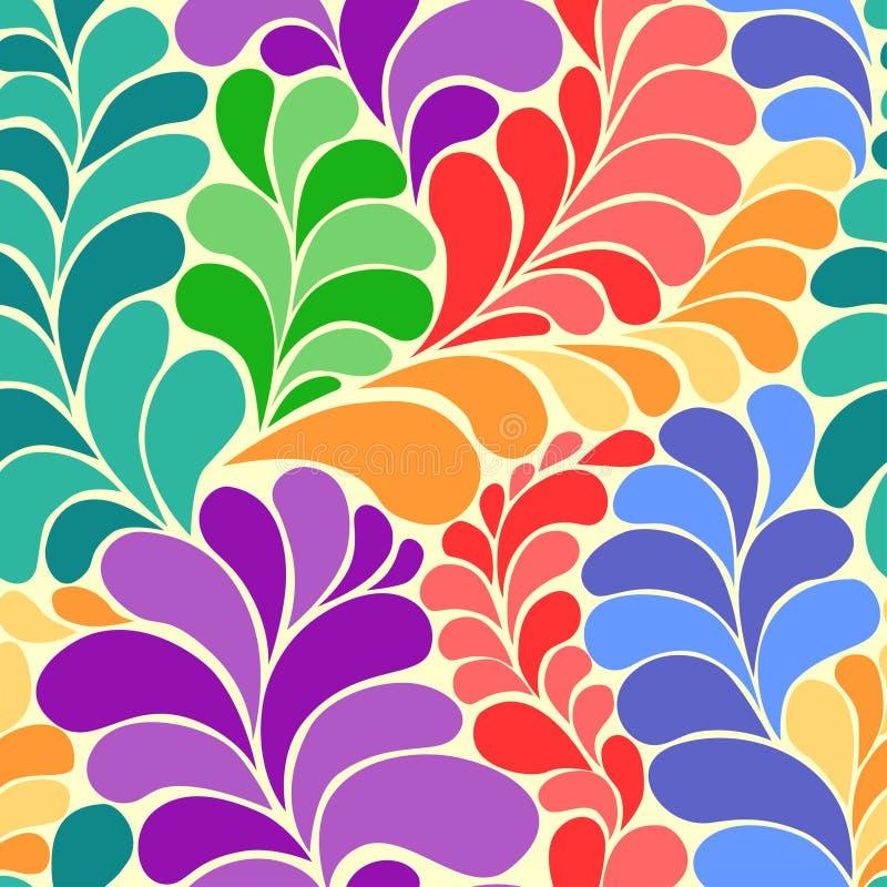 Abstrakcjonistyczny wibrujący hipisa 60s wektoru bezszwowy wzór ilustracja wektor
