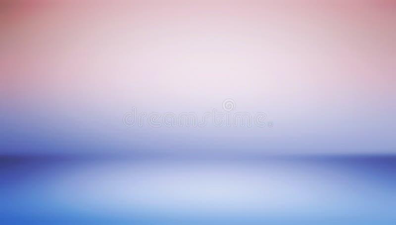 Abstrakcjonistyczny widescreen różowy błękitny gradientów kolorów projekt dla broszurki lub eleganckiej wielkanocy, Bożenarodzeni ilustracji