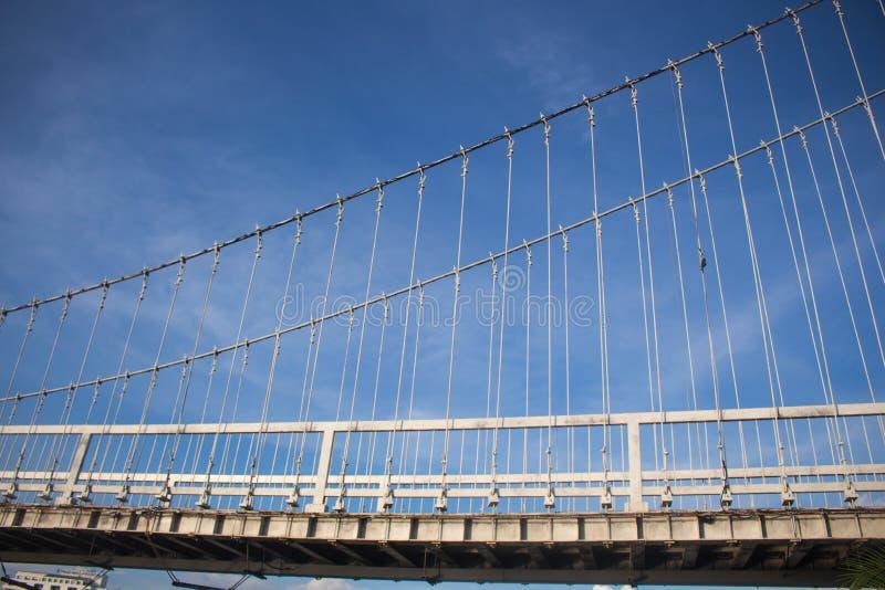 Abstrakcjonistyczny widok bridżowy poparcie przeciw niebieskiemu niebu obrazy royalty free