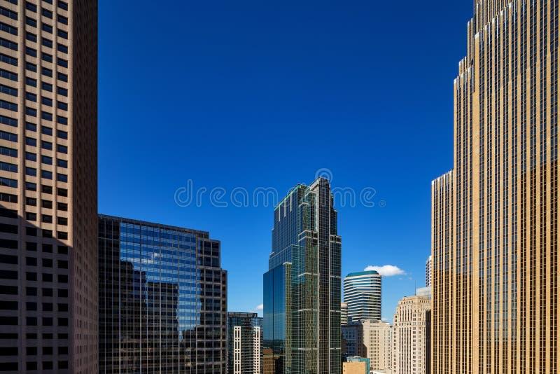 Abstrakcjonistyczny widok miasto architektura Minneapolis, usa obrazy stock