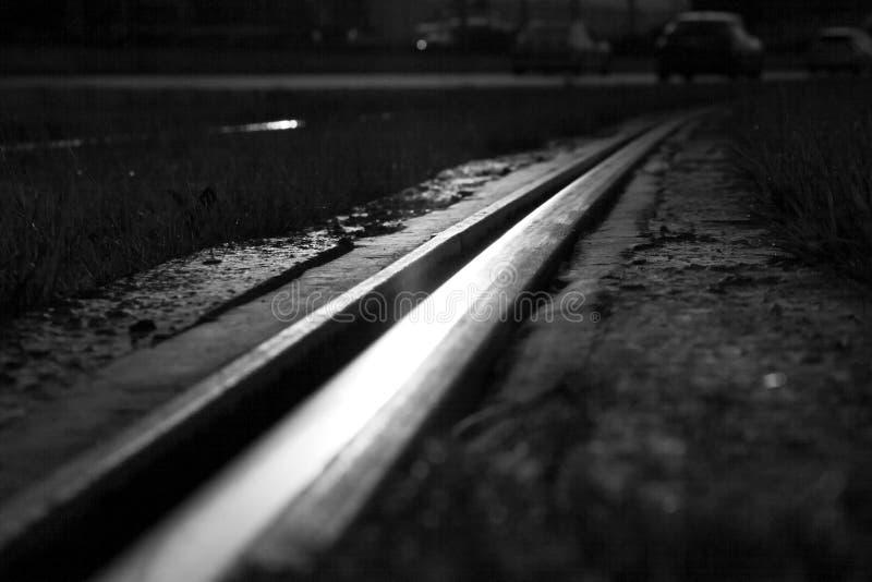 Abstrakcjonistyczny widok na linii kolejowej fotografia stock
