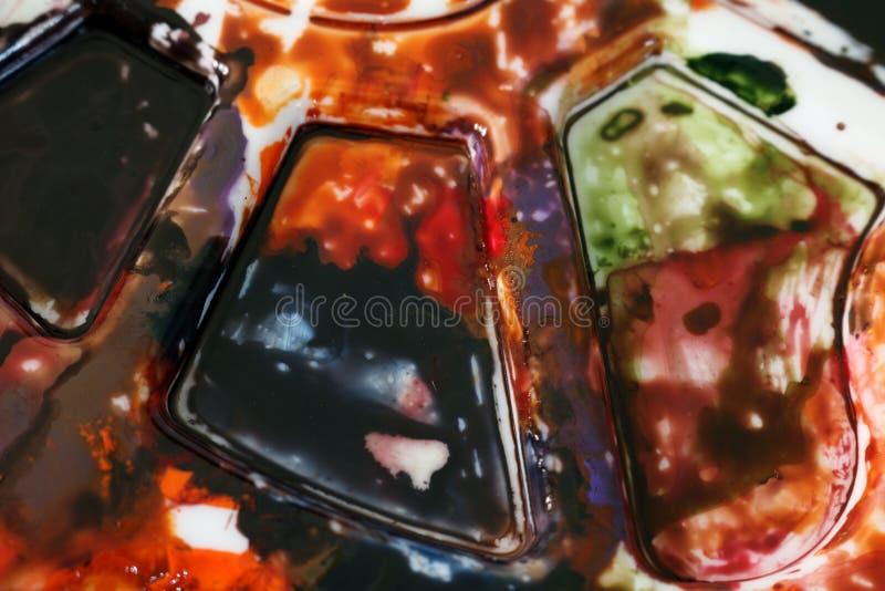 Abstrakcjonistyczny widok obraz palety tło obrazy stock