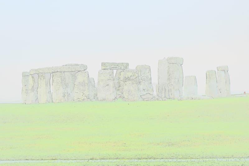 Abstrakcjonistyczny widok Stonehenge target55_0_ fotografia royalty free
