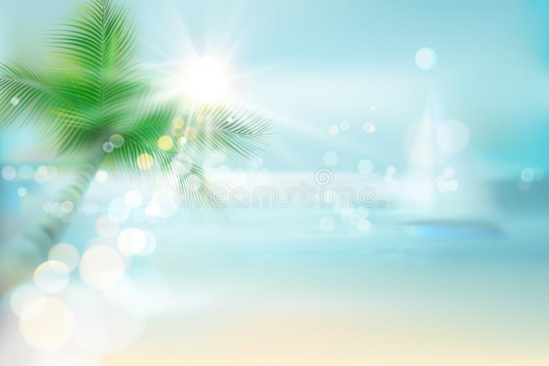 Abstrakcjonistyczny widok tropikalna plaża również zwrócić corel ilustracji wektora ilustracji