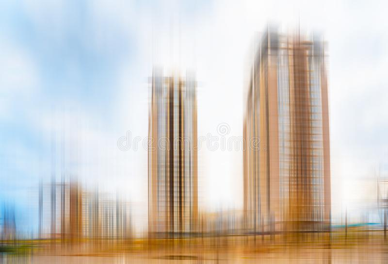Abstrakcjonistyczny widok wysocy budynki ilustracja wektor