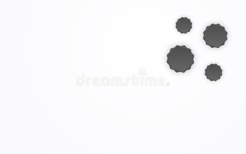 Abstrakcjonistyczny wielobok jak 3D gwiazdy kształta kępki wzoru tło Geometryczny kształt i kreatywnie graficznego projekta pojęc royalty ilustracja