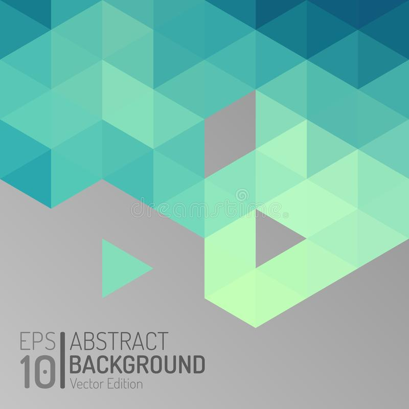 Abstrakcjonistyczny wielobok tapety szablon Wektorowego trójboka Nowożytnego sześciokąta Geometryczny tło EPS10 royalty ilustracja