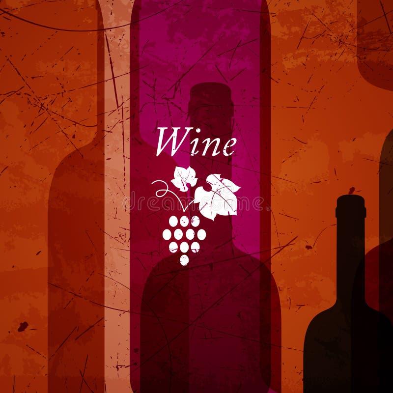 Abstrakcjonistyczny wina tło royalty ilustracja