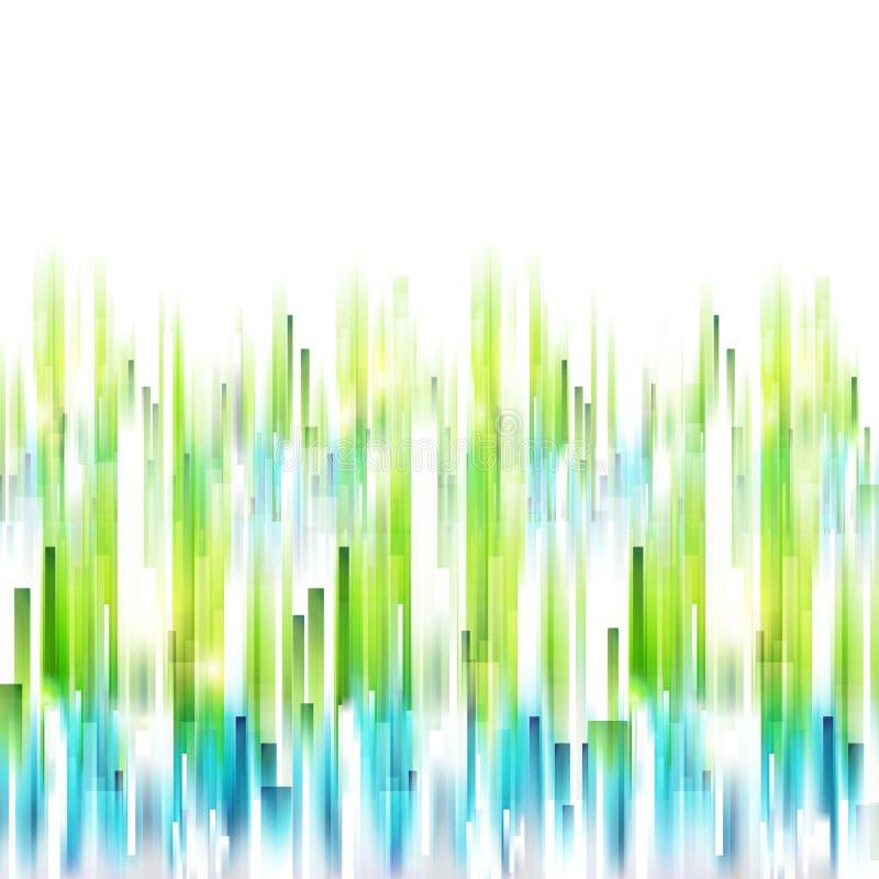 Abstrakcjonistyczny wiosen pionowo linii tło ilustracji