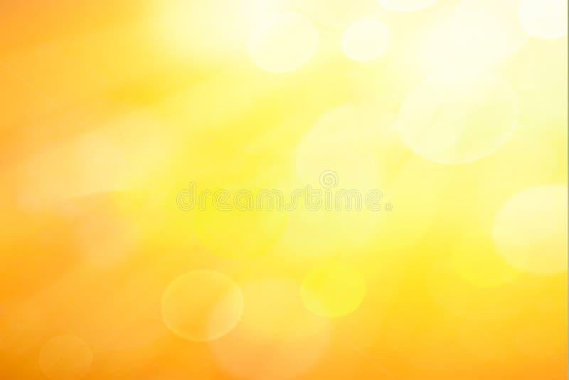 Abstrakcjonistyczny wiosny lub lata bokeh tło ilustracja wektor