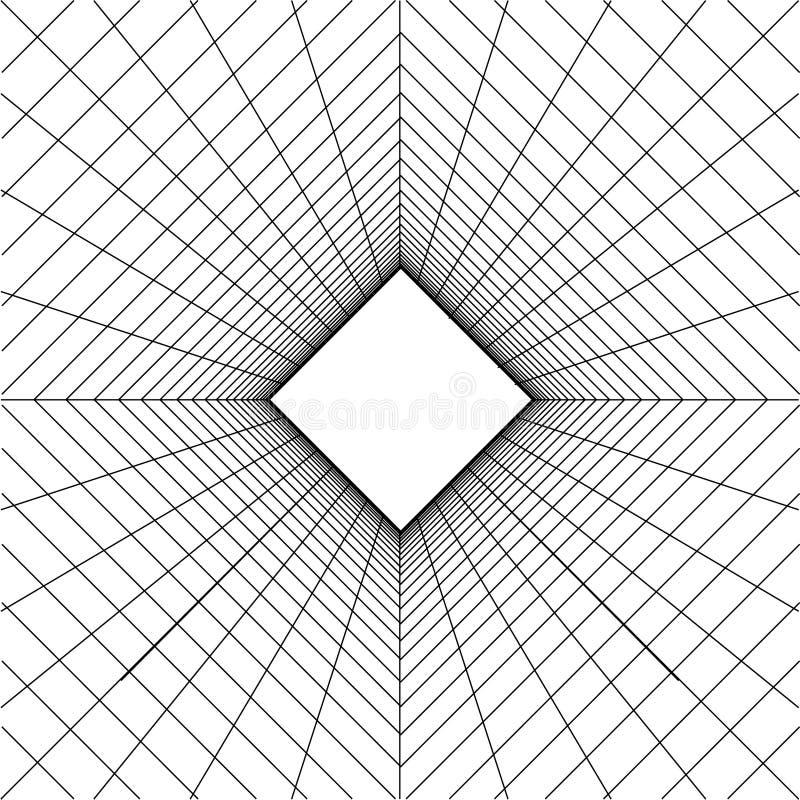 Abstrakcjonistyczny wireframe siatki tło ilustracja wektor