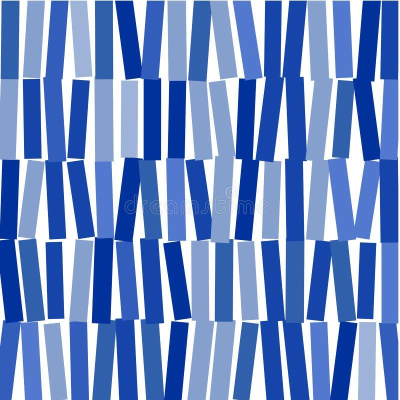 Abstrakcjonistyczny wizerunek błękitni prostokąty na whit tle royalty ilustracja