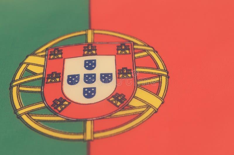 Abstrakcjonistyczny wizerunek czerep flaga Portugalia obraz royalty free