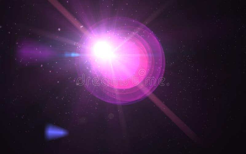 Abstrakcjonistyczny wizerunek słońce wybuchu oświetlenia raca ilustracji
