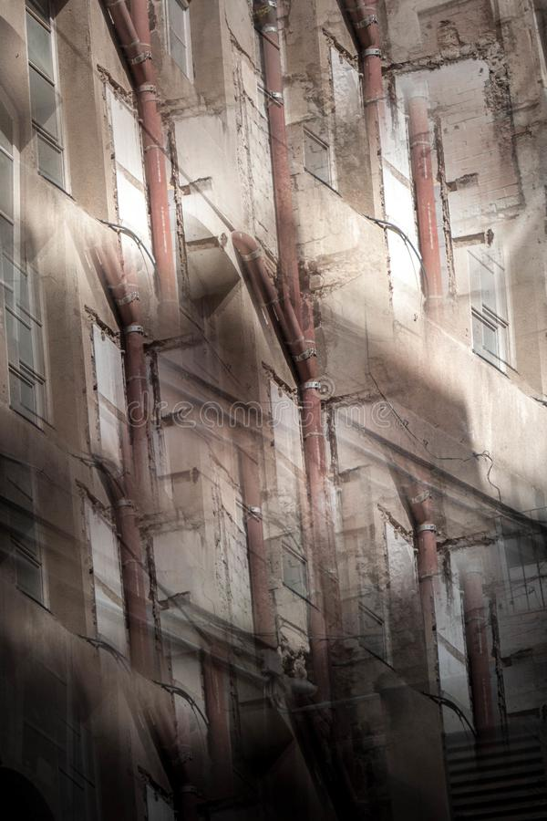 Abstrakcjonistyczny wizerunek starzy budynki obraz royalty free