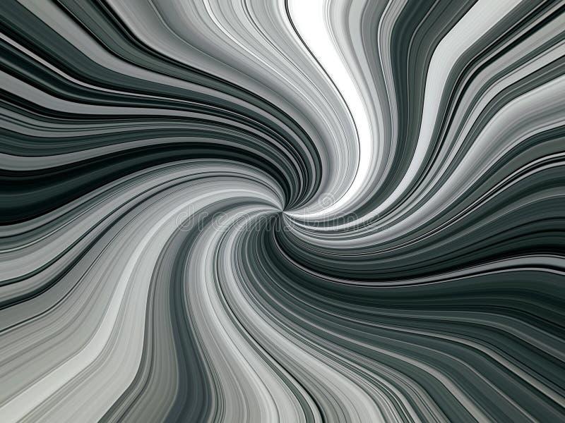 Abstrakcjonistyczny wizerunek stubarwne linie promienie w przestrzeni royalty ilustracja