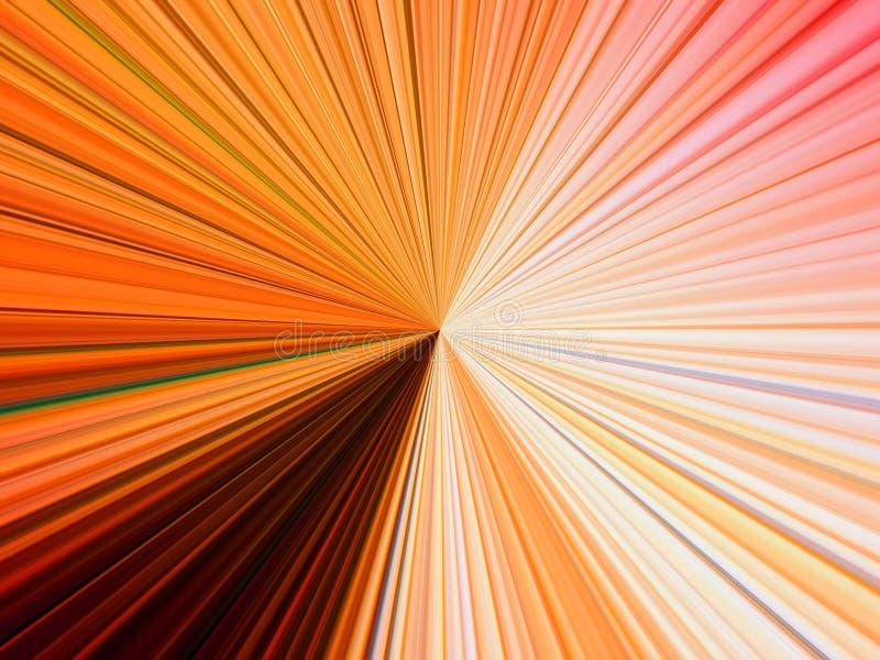 Abstrakcjonistyczny wizerunek stubarwne linie promienie w przestrzeni ilustracji