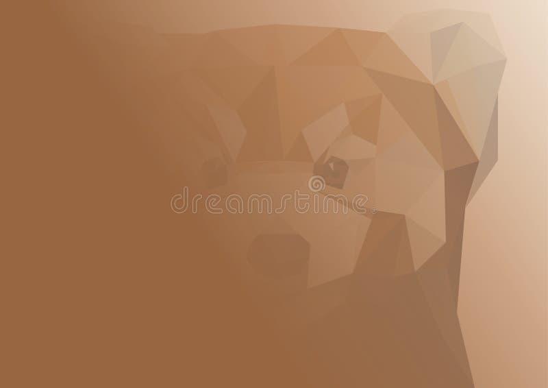 Abstrakcjonistyczny wizerunek szop pracz ilustracja ilustracji