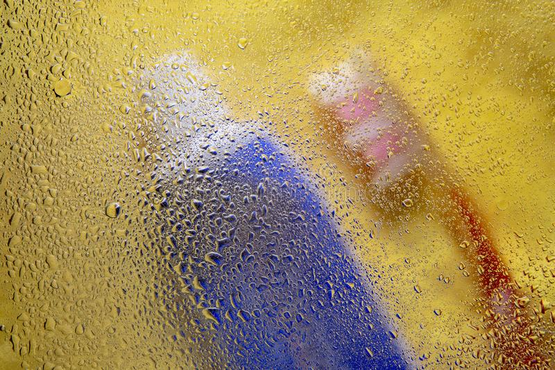 Abstrakcjonistyczny wizerunek toiletries fotografia royalty free