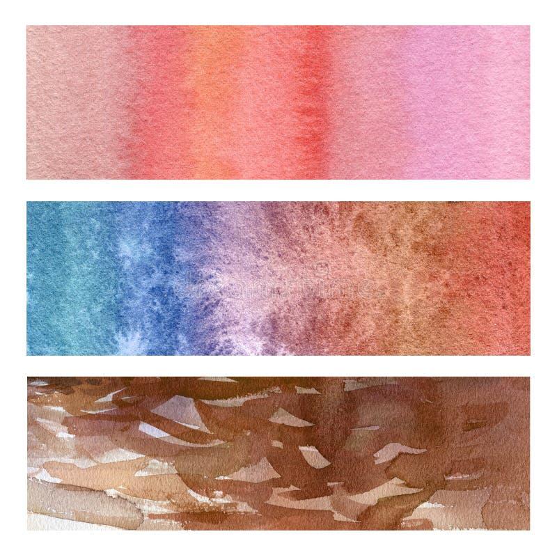 Abstrakcjonistyczny wodnego koloru sztuki tło royalty ilustracja