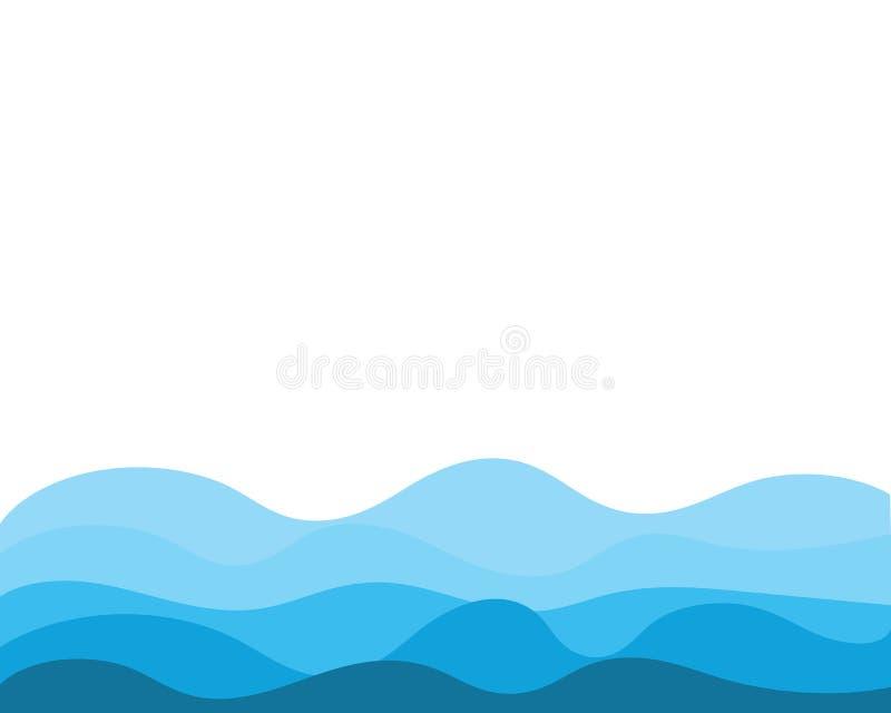 Abstrakcjonistyczny Wodnej fali projekta tło ilustracji