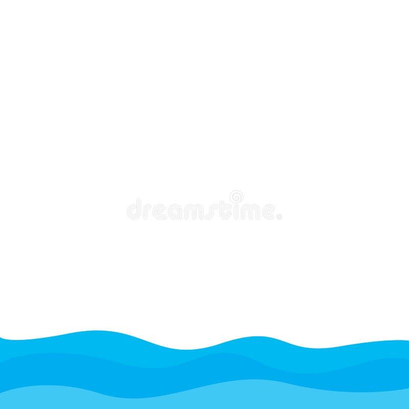 Abstrakcjonistyczny Wodny falowego wektoru projekta ilustracyjny t?o royalty ilustracja