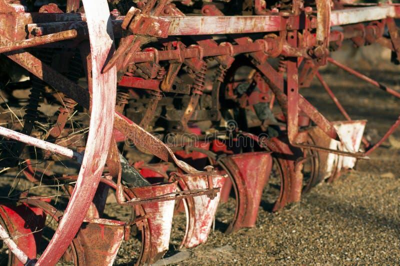 Abstrakcjonistyczny wp8lywy na rocznik rolnej maszynerii obrazy royalty free