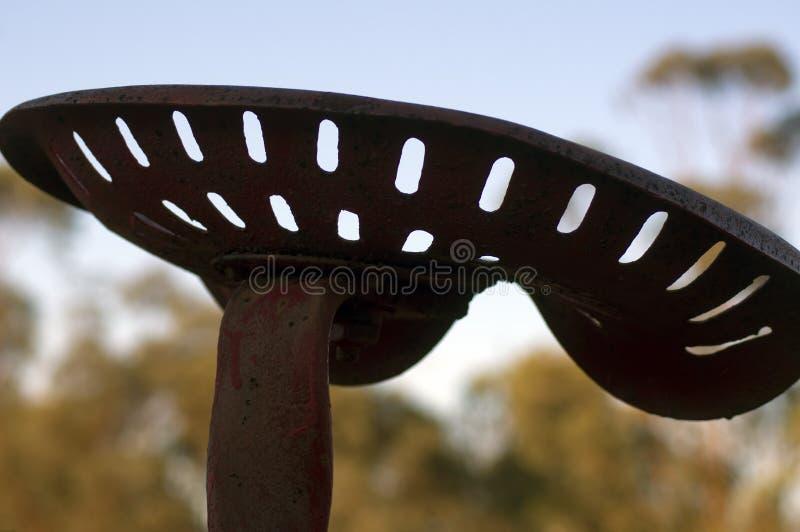 Abstrakcjonistyczny wp8lywy na rocznik rolnej maszynerii siedzeniu obrazy stock
