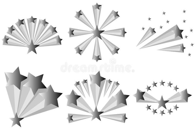 Abstrakcjonistyczny wybuch gwiazdy ilustracji