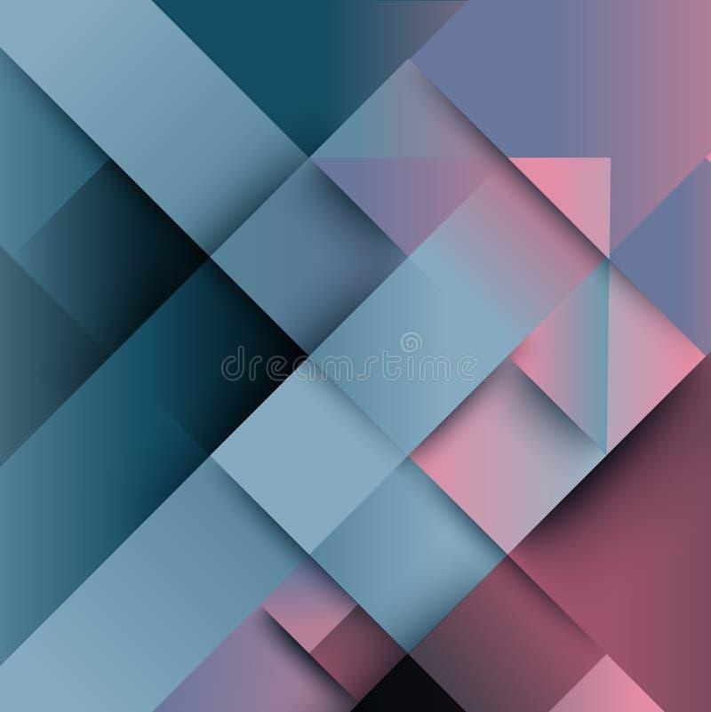 Abstrakcjonistyczny wykoślawienie od strzałkowatego kształta tła ilustracja wektor